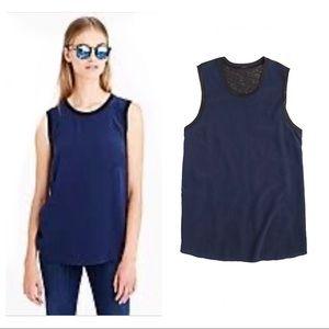 J.Crew sleeveless silk / linen shell size medium